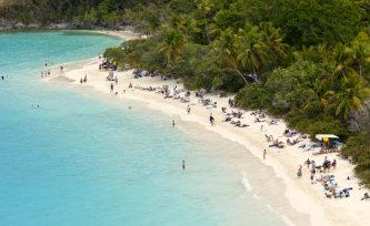 US Virgin Islands white sand beach