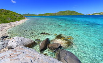 beautiful beach in British Virgin Islands