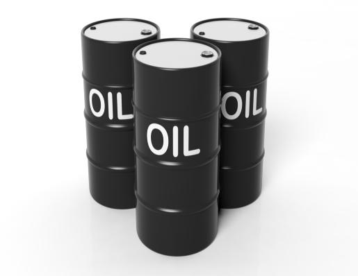 Drum of crude oil