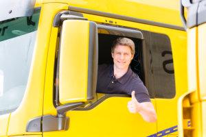 a portrait of a truck driver